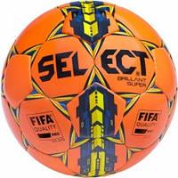 Мяч футбольный SELECT Brillant Super FIFA оранжевый размер 5