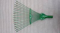 Грабли веерные раздвижные крашеные (зеленые), фото 1