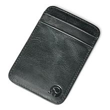 Кожаный картхолдер на 5 отделений черный