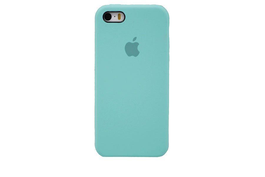 Чехол-накладка Silicone Case для iPhone 5/5s/5se Бирюзовый (13695)