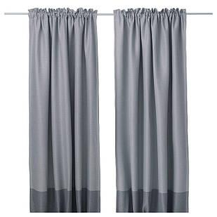 IKEA MARJUN Гардины, пара, серый  (302.984.24)