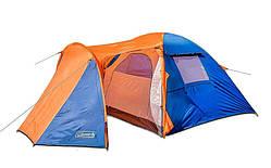 Палатка четырехместная с тамбуром и тентом Coleman 1036