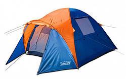Палатка трехместная с тамбуром и тентом Coleman 1011