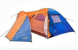Палатка трехместная с тамбуром и тентом Coleman 1504
