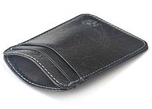 Кожаный картхолдер на 5 отделений темно-серый