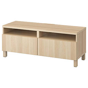 IKEA BESTA Тумба под телевизор с ящиками, Лаппвикен белый дуб  (991.883.43)
