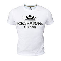 Футболка мужская реплика Dolce & Gabbana (белый)