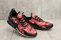 Кроссовки А 358 -51 (Nike AirMax 270) (весна/осень, мужские, текстиль, красный-черный)