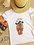 """Женская футболка с рисунком """"Baby Mous В И, фото 2"""