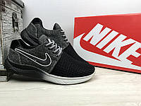 Кроссовки CrosSAV 41 (Nike Roshe Run) (лето, мужские, текстиль, черный)