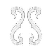 Гипсовая лепнина декоративный угол у-4 h130 мм
