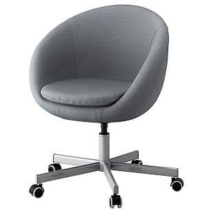 IKEA SKRUVSTA Рабочий стул, Виссле серый  (302.800.04)
