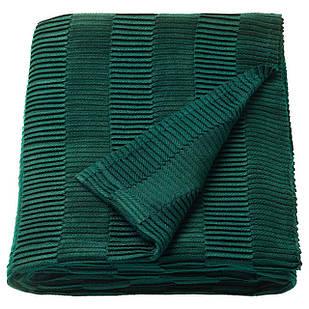 IKEA VAGMALLA Плед, зеленый  (203.522.80)
