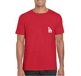 Мужская футболка Los Angeles, мужская футболка Лос Анджелес, спортивная, брендовая, красная, копия