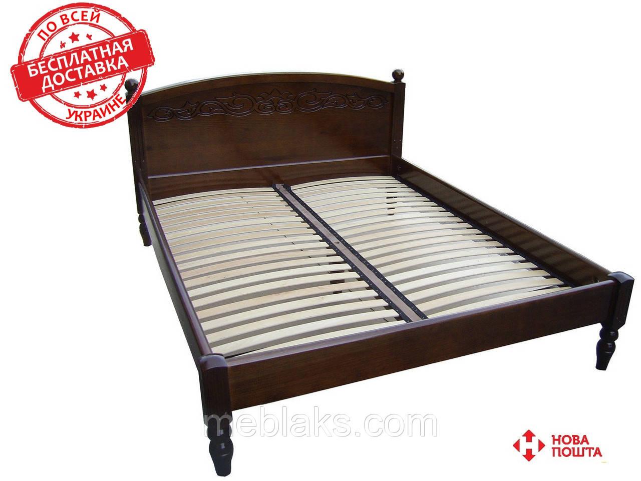 Кровать из массива   Венеция-1 (2,0Х1,6м)