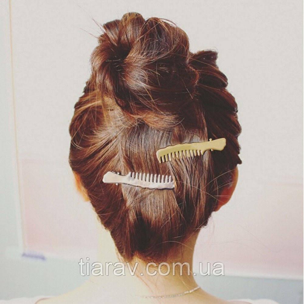 Шпилька невидимка зажим для волосся гребінець срібло Тіара модна шпилька Прикраси для волосся