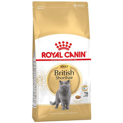 Сухой Корм Royal Canin British Shorthair Adult Для Кошек Породы Британская Короткошерстная От 12 Месяцев, 2 Кг