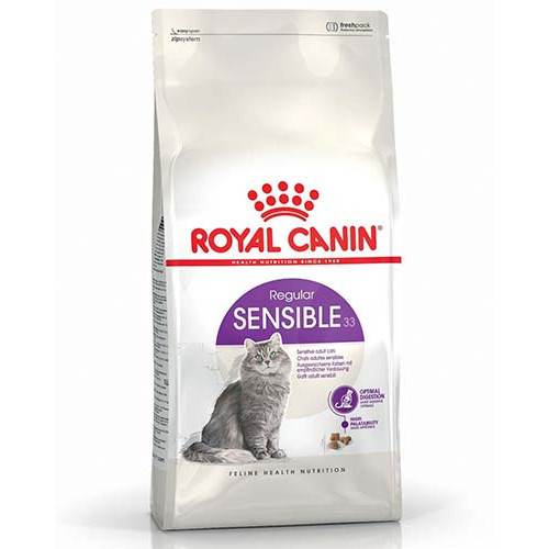 Royal Canin Sensible Сухой Корм Для Котов От 1 Года С Чувствительным Пищеварением, 10 Кг