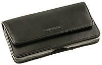 Кожаный чехол на пояс Valenta для смартфонов 5-5.1 дюймов Темно-коричневый (C-401/SG5 коричн.)