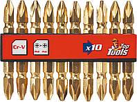 Насадки PH2 x 60 мм, набор 10 шт. Top Tools 39D382., фото 1