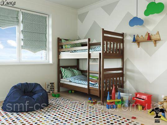"Двоповерхове  ліжко ""Умка"" (масив бука) трансформер з натурального дерева"
