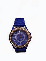 Часы женские с камнями Geneva Silicon Синие
