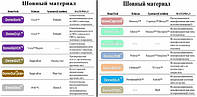 Таблица соотвествия Шовного материала DemeTECH и аналогов
