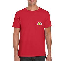 Мужская футболка Lakers, мужская футболка Лейкерс, спортивная, брендовая, хлопок, красная, копия