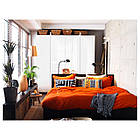 IKEA BOJA Наcтольная лампа, никелированная, бамбук ротанг  (601.522.79), фото 5