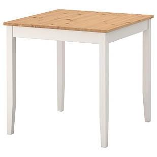 IKEA LERHAMN Стол, пятно светлой патины, белое пятно  (802.642.71)