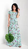 Женское летнее платье в пол. Размеры 56-58, фото 1
