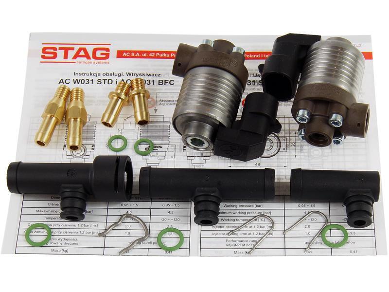 Газовые форсунки AC STAG W031-2 BFC 2 цилиндра с тройниками