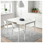 IKEA MELLTORP/JANINGE Стол и 4 стула, белый, белый  (591.614.87), фото 2