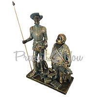 Скульптура из керамики «Дан Кихот и Санчо Панса» Anglada, h-15,5х8х22 см (524a)