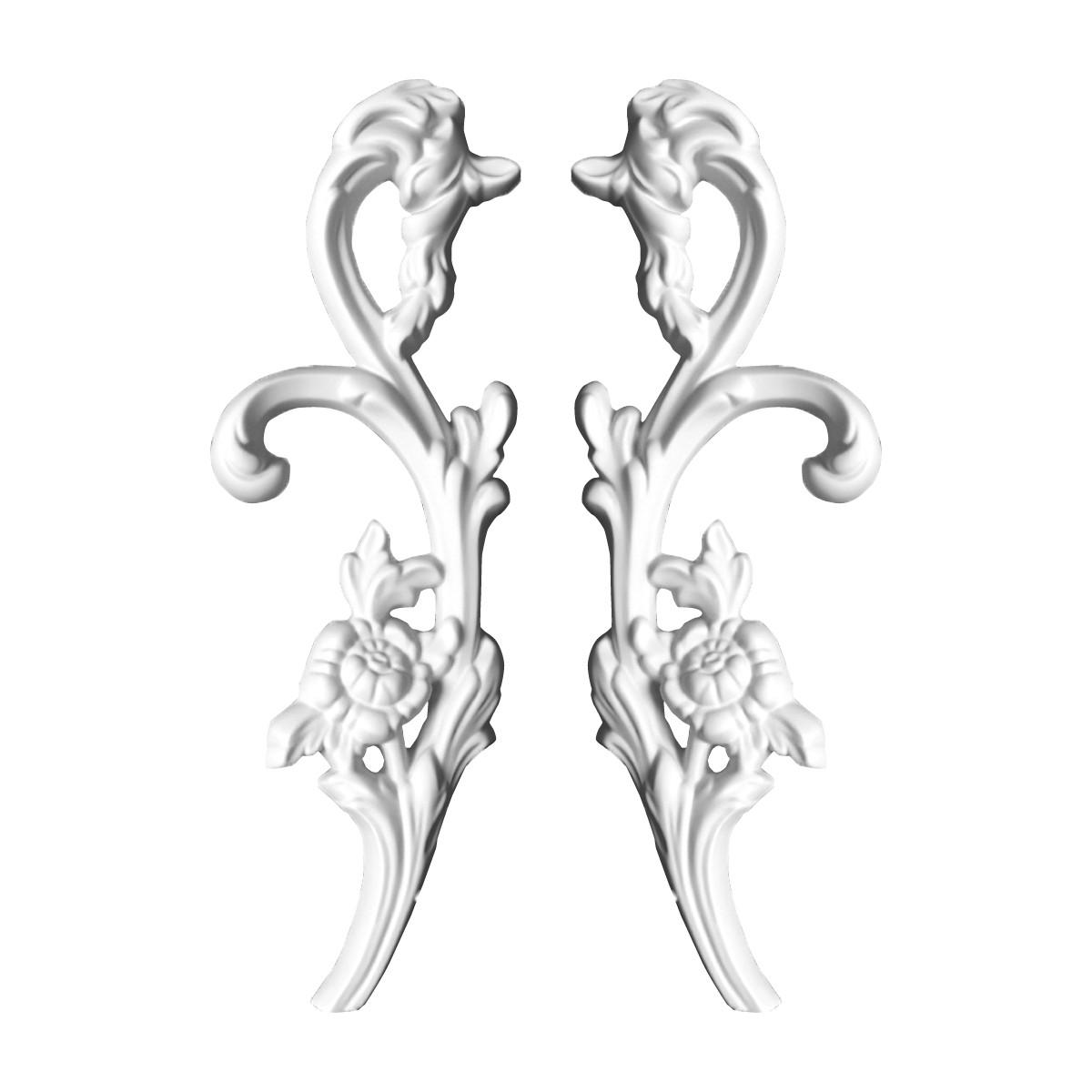 Гипсовая лепнина декоративный угол у-35 h305мм