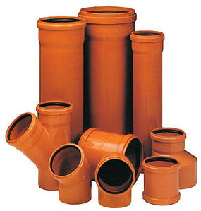 Труба ПВХ 110х3,2 для зовнішньої каналізації з раструбом