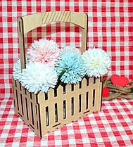 Декоративная Деревянная Корзинка Средняя для оформления цветов букетов дерев'яна корзина для квітів