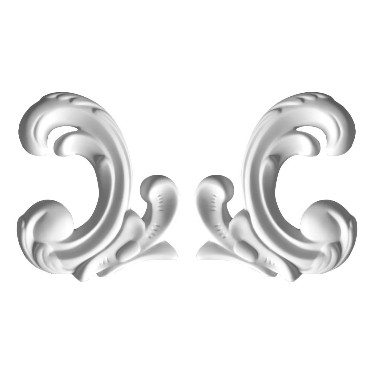 Гипсовая лепнина декоративный угол у-38 h100мм