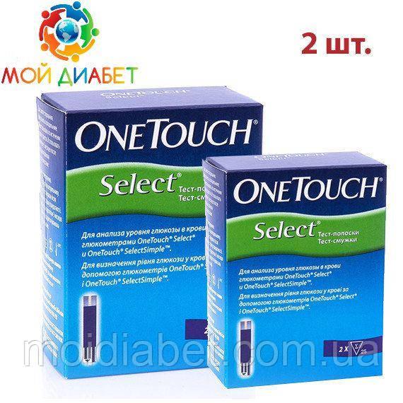 Тест - смужки One Touch Select №50 2 упаковки