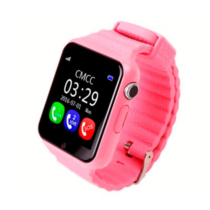 Умные детские часы SBW V7k Розовые (wfbv7kp)