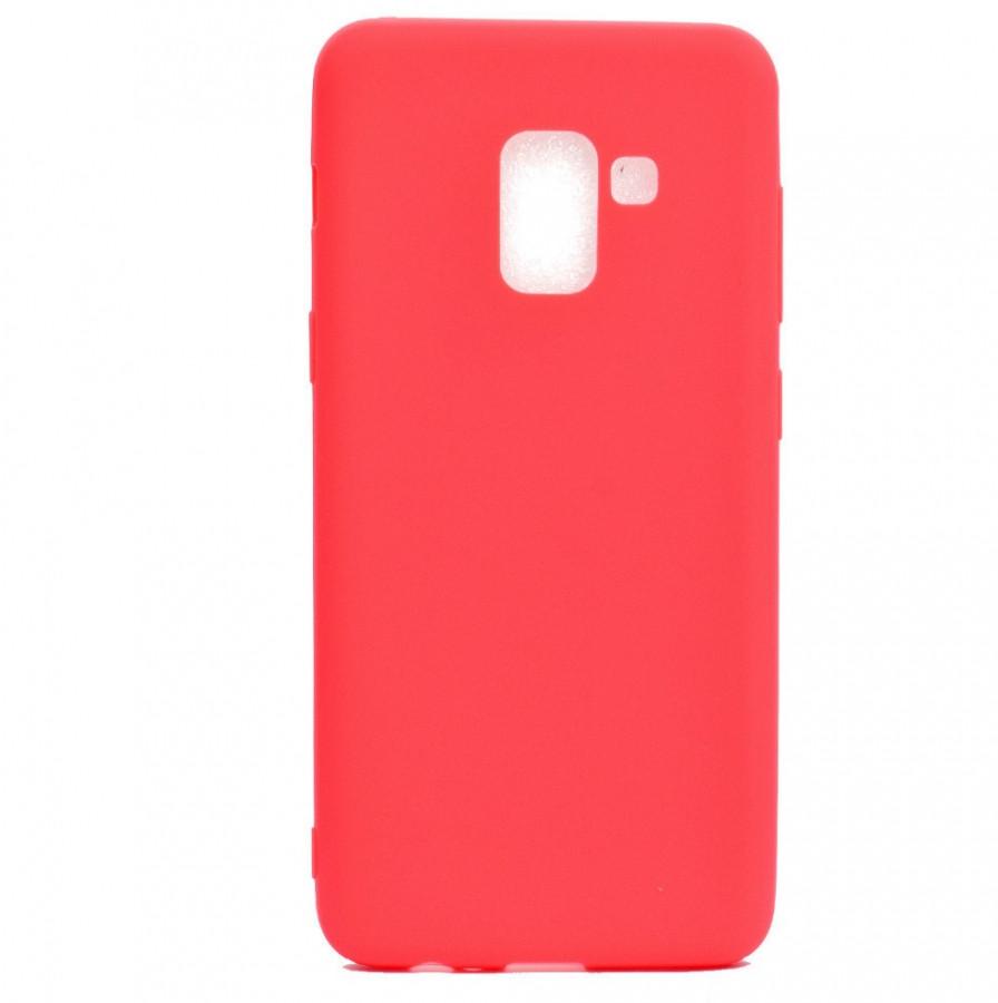 Чехол Silicone Cover для Samsung Galaxy A8 Plus 2018 A730 Красный (723330080)