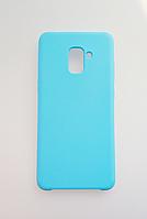 Чехол Silicone Cover для Samsung Galaxy A8 Plus 2018 A730 Light Blue (MB_723330079)