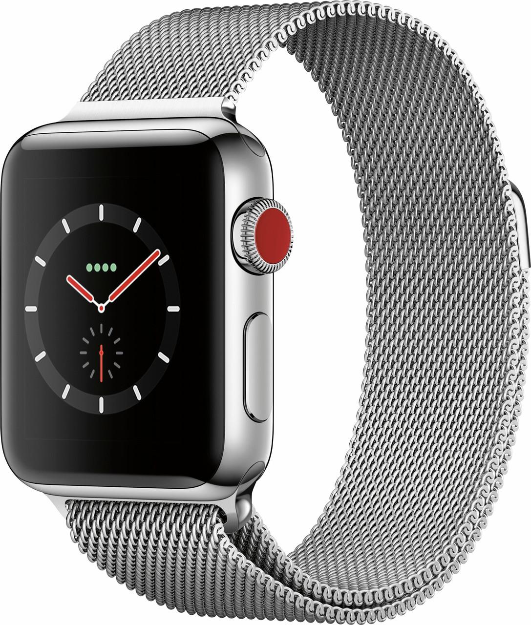 Apple Watch Series 3 GPS + Cellular 42mm Stainless Steel with Milanese Loop (MR1J2)