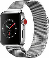 Apple Watch Series 3 GPS + Cellular 42mm Stainless Steel with Milanese Loop (MR1J2), фото 1