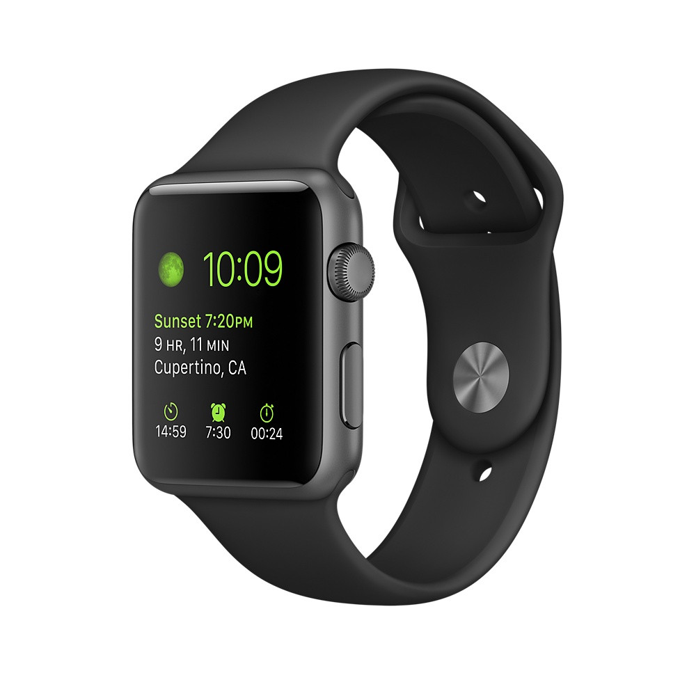 Apple Watch Series 3 GPS + Cellular 38mm Space Gray Aluminum with Black Sport Band (MQJP2)