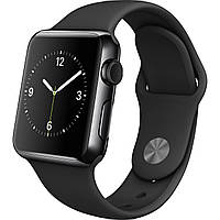 Apple Watch Series 3 GPS + Cellular 38mm Space Black Stainless Steel with Black Sport Band (MQJW2), фото 1