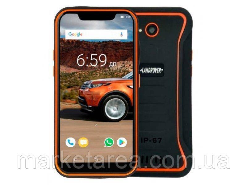 Смартфон защищенный с большим дисплеем и мощной батареей на 2 сим карты Land Rover X3 orange 2/16 гб