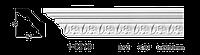 Карниз потолочный с орнаментом Classic Home 1-0510, лепной декор из полиуретана
