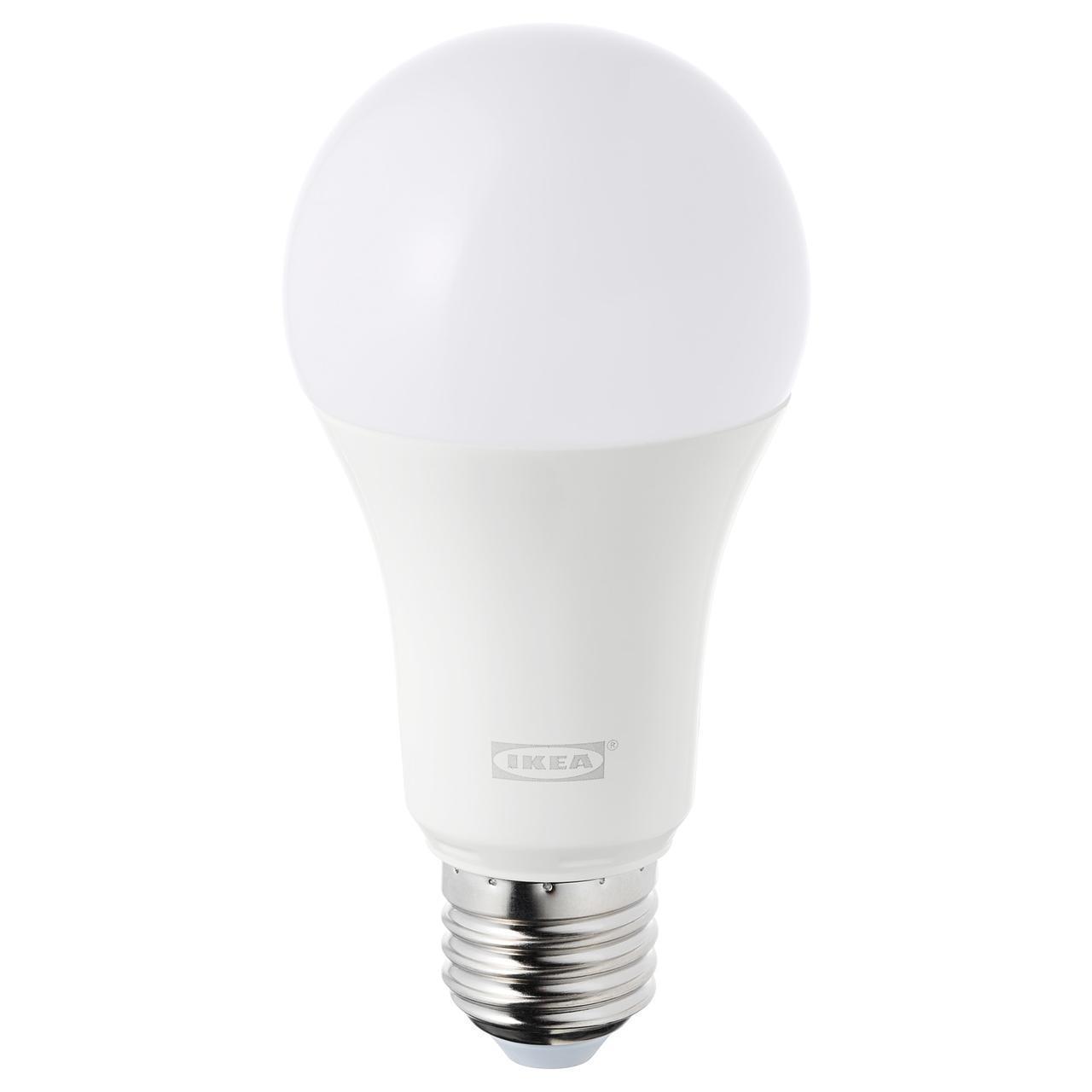 IKEA TRADFRI Светодиодная лампа E27 980 люмен, беспроводная регулировка яркости, белый спектр (103.182.63)