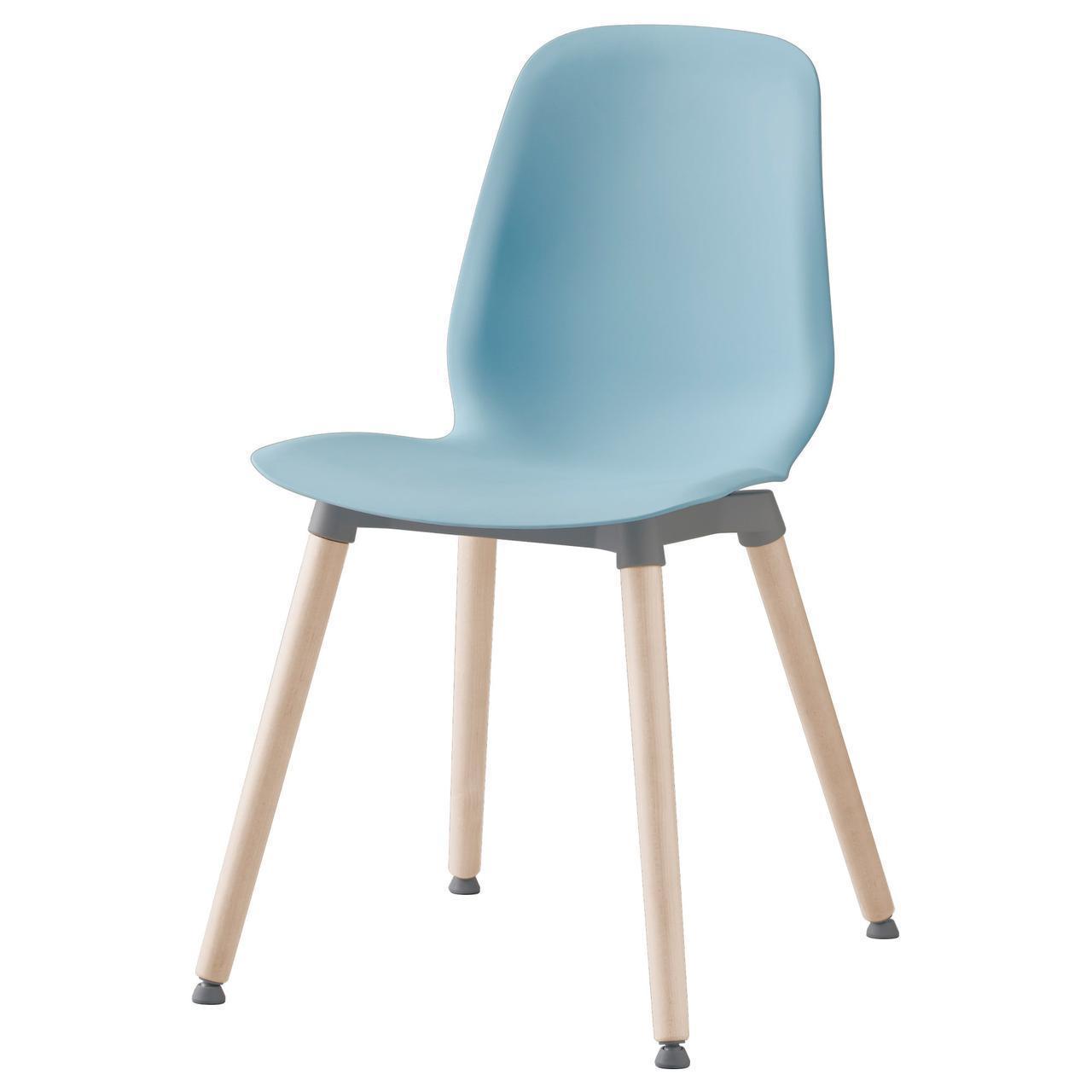 IKEA LEIFARNE Стул, светло-синий, Эрнфрид береза  (991.278.06)